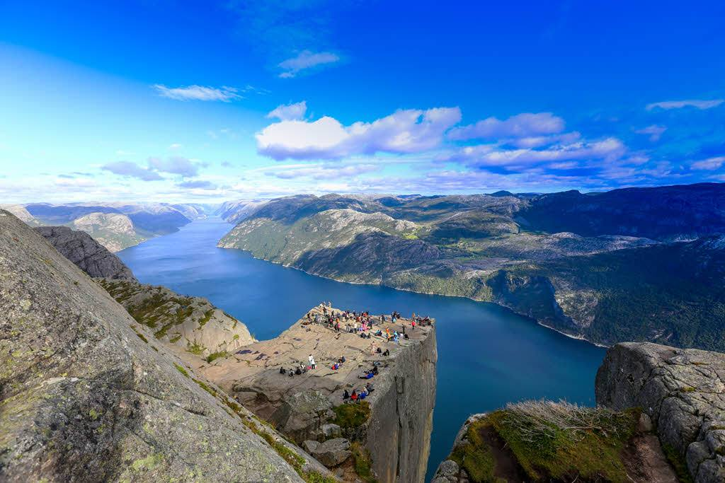 View of Lysefjord from Pulpit Rock by Paul Edmundson, Fjord Norway