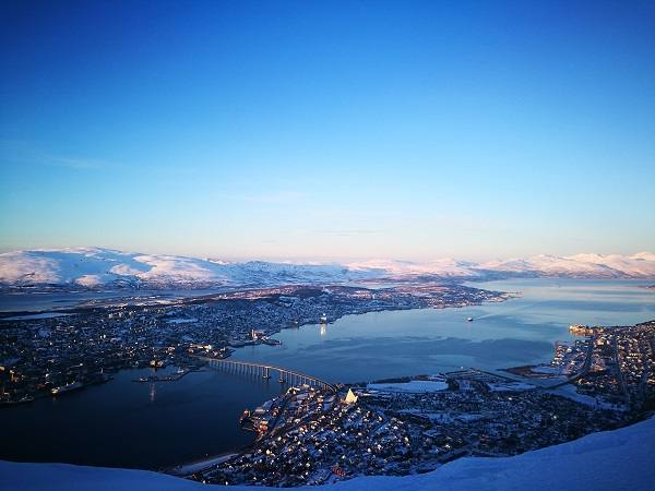 Tromso in winter by F. Schwarzlmueller, Fjord Travel Norway