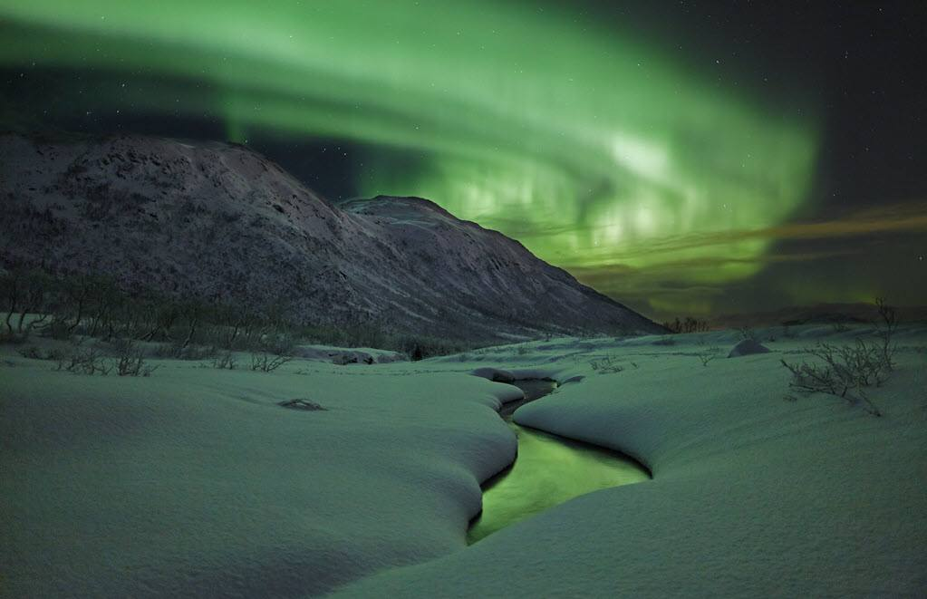 View of the Northern Lights close to Malangen by Malangen Resort