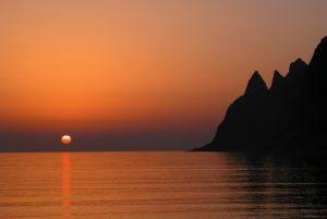 Midnight sun Norway. Photo by Reiner Schaufler, Nordnorsk Reiseliv