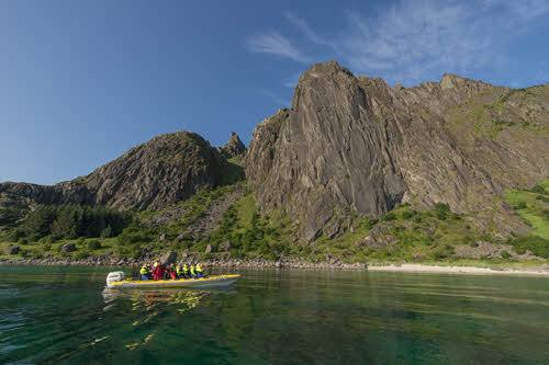 RIB adventure on Lofoten Islands by Trym Ivar Bergsmo, Hurtigruten