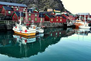 Stamsund on Lofoten Islands by Hurtigruten