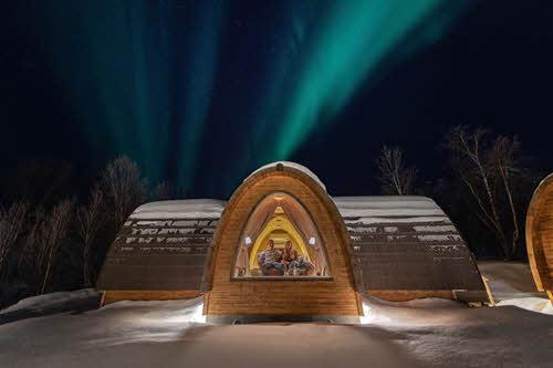 Gamme cabins at Snowhotel Kirkenes by Kirkenes Snowhotel