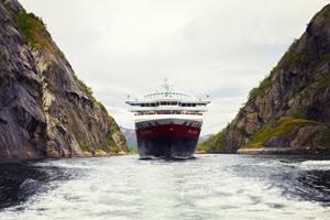 Hurtigruten in Trollfjord by Rune Kongsro, Hurtigruten