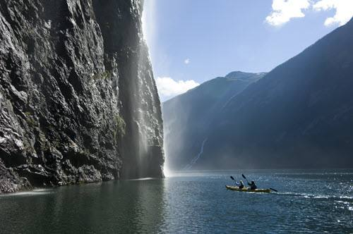 Kayaking on Geirangerfjord by Terje Rakke, Nordic Life, Visit Norway