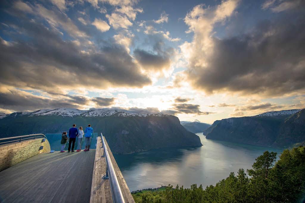 Norwegian Fjords - unforgettable view from Stegastein by Sverre Hjornevik, Fjord Norway