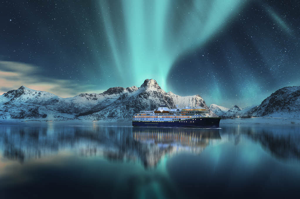 Sustainable Northern Lights Cruise in Norway by Havila Voyages