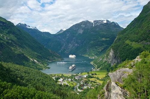View of Geirangerfjord by Oyvind Heen, Visit Norway