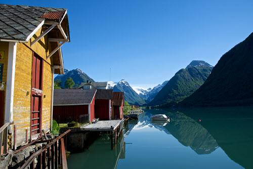On the shores of Sognefjord by Oyvind Heen, Visit Norway