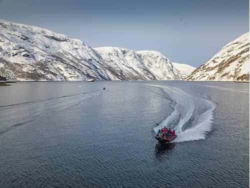 Winter RIB Safari on Lofoten Islands by Orjan Bertelsen, Hurtigruten