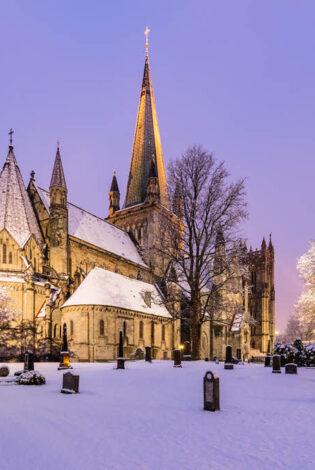 Nidaros Cathdreal In Winter By Svein Erik Knoff, Visit Trondheim