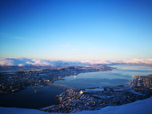 Arrival to beautiful Tromso. By F.Schwarzlmueller, Fjord Travel Norway