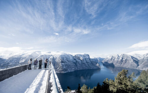 Winter On Stegastein Viewpoint By Sverre Hjornevik, Flam AS