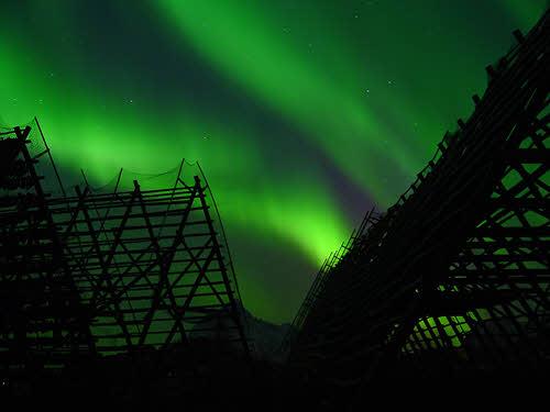 Northern Lights over Svolvær in Lofoten Northern Norway, Stockshots.no, Visit Norway